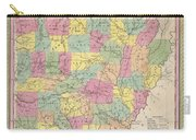 1853 Mitchell Map Of Arkansas Carry-all Pouch