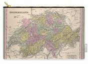 1853 Mitchell Map Of Switzerland  Carry-all Pouch