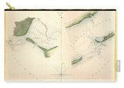1853 Us Coast Survey Chart Or Map Of St Georges Sound Florida Carry-all Pouch