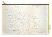 1853 Us Coast Survey Map Of The Romer And Flynns Shoals Near Coney Island New York Carry-all Pouch