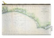 1853 Us Coast Survey Map Of The Western Florida Panhandle Carry-all Pouch