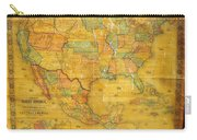 1854 Jacob Monk Wall Map Of North America Carry-all Pouch