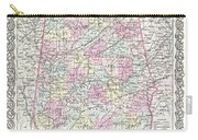1855 Colton Map Of Alabama Carry-all Pouch