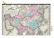 1855 Colton Map Of Asia Carry-all Pouch