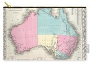 1855 Colton Map Of Australia Carry-all Pouch