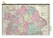 1855 Colton Map Of Bavaria Wurtemberg And Baden Germany Carry-all Pouch