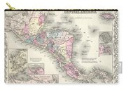 1855 Colton Map Of Central America And Jamaica Carry-all Pouch