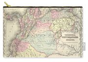 1855 Colton Map Of Columbia Venezuela And Ecuador Carry-all Pouch