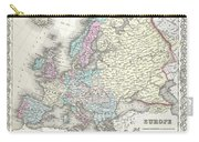 1855 Colton Map Of Europe Carry-all Pouch