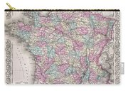 1855 Colton Map Of France Carry-all Pouch