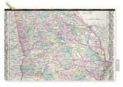 1855 Colton Map Of Georgia Carry-all Pouch