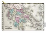 1855 Colton Map Of Greece  Carry-all Pouch