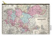 1855 Colton Map Of Hanover And Holstein Germany Carry-all Pouch