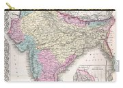 1855 Colton Map Of India Carry-all Pouch
