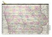 1855 Colton Map Of Iowa Carry-all Pouch