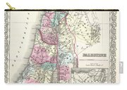 1855 Colton Map Of Israel Palestine Or The Holy Land Carry-all Pouch