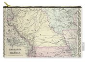 1855 Colton Map Of Kansas And Nebraska  Carry-all Pouch
