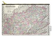 1855 Colton Map Of Kentucky And Tennessee Carry-all Pouch