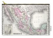 1855 Colton Map Of Mexico - Geographicus1855 Colton Map Of Mexico - Geographicus Carry-all Pouch