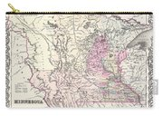1855 Colton Map Of Minnesota Carry-all Pouch