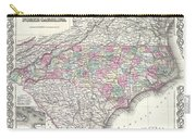1855 Colton Map Of North Carolina Carry-all Pouch