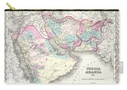 1855 Colton Map Of Persia Afghanistan And Arabia Carry-all Pouch