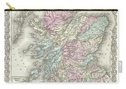 1855 Colton Map Of Scotland Carry-all Pouch