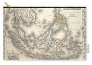 1855 Colton Map Of The East Indies Singapore Thailand Borneo Malaysia Carry-all Pouch