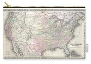 1855 Colton Map Of The United States  Carry-all Pouch