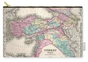 1855 Colton Map Of Turkey Iraq And Syria Carry-all Pouch