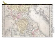 1856 Desilver Map Of Northern Italy Carry-all Pouch