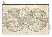 1856 Desilver Map Of The World  Carry-all Pouch