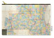 1857 Chapman Pocket Map Of The North West Illinois Wisconsin Iowa  Carry-all Pouch