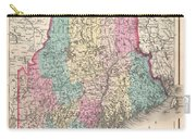 1857 Colton Map Of Maine Carry-all Pouch