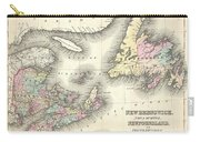 1857 Colton Map Of New Brunswick And Newfoundland Canada Carry-all Pouch