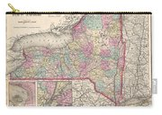 1857 Colton Map Of New York Carry-all Pouch
