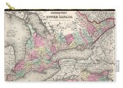 1857 Colton Map Of Ontario Canada Carry-all Pouch