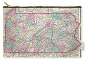 1857 Colton Map Of Pennsylvania Carry-all Pouch