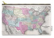 1857 Colton Map Of The United States  Carry-all Pouch