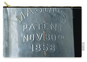 1858 Masons Jar Carry-all Pouch