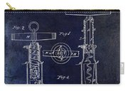 1862 Corkscrew Patent Drawing Carry-all Pouch