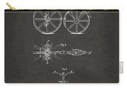 1866 Velocipede Bicycle Patent Artwork - Gray Carry-all Pouch by Nikki Marie Smith