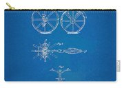 1866 Velocipede Bicycle Patent Blueprint Carry-all Pouch by Nikki Marie Smith