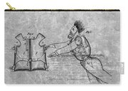 1869 Life Preserver Patent Charcoal Carry-all Pouch