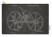 1869 Velocipede Bicycle Patent Artwork - Gray Carry-all Pouch by Nikki Marie Smith