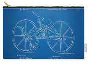 1869 Velocipede Bicycle Patent Blueprint Carry-all Pouch
