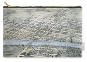 1873 Birds Eye Map Of Waco Carry-all Pouch
