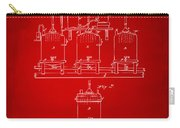 1873 Brewing Beer And Ale Patent Artwork - Red Carry-all Pouch