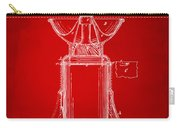 1873 Coffee Mills Patent Artwork Red Carry-all Pouch
