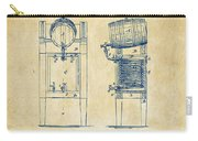 1876 Beer Keg Cooler Patent Artwork - Vintage Carry-all Pouch by Nikki Marie Smith